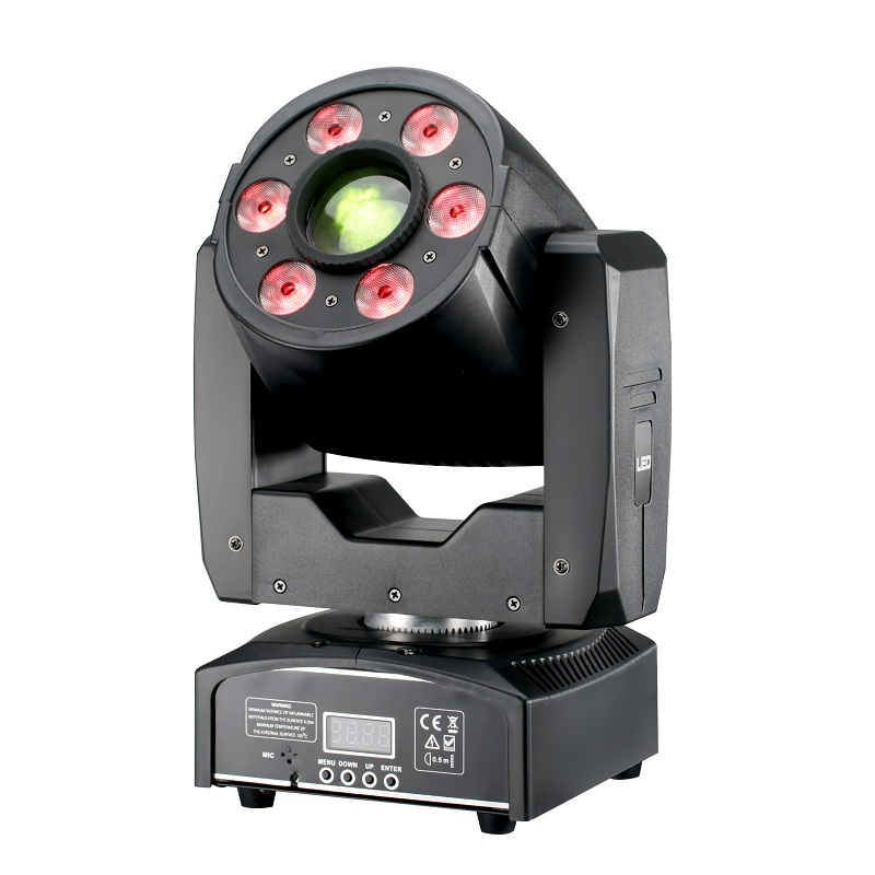 30W Spot with 6x8w LED Wash Spot Moving Head Light